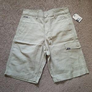 Mens Vans Tan Grid Check Plaid Shorts